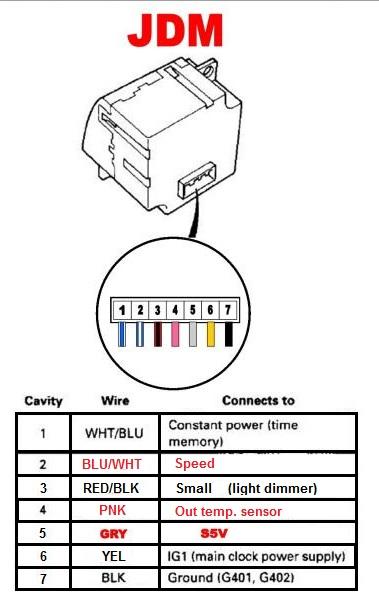 Jdm Auto Climate Control  Jdm Clock  Ambient Temp Sensor